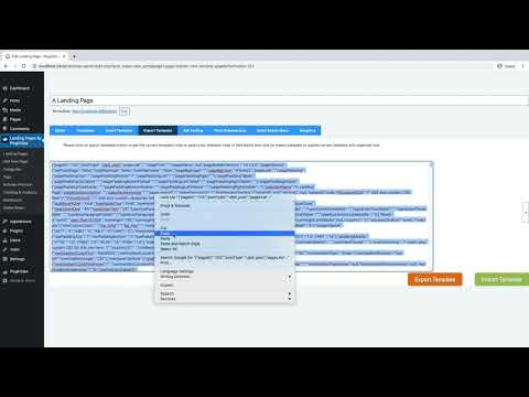 How to duplicate or export a landing page with PluginOps Landing Page Builder