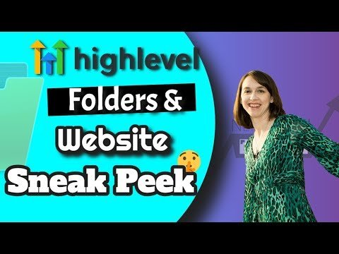 SNEAK PEEK: Gohighlevel Folders and Websites Review NOW LIVE!