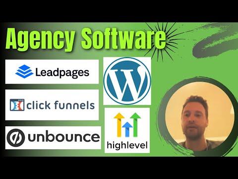 ClickFunnels vs Leadpages vs Unbounce vs Go HighLevel vs WordPress  – Agency Software
