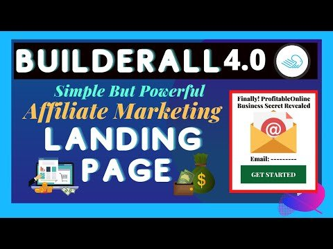How to Create Affiliate Marketing Sales Funnel with Builderall Landing Page Builder