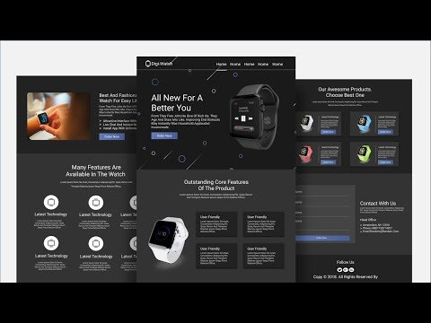 Complete Responsive Product Landing Page Website Design [ HTML CSS JS ] – Step By Step