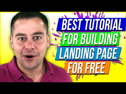 How to Build A Landing Page For Free 🔥 Tutorial For Beginners