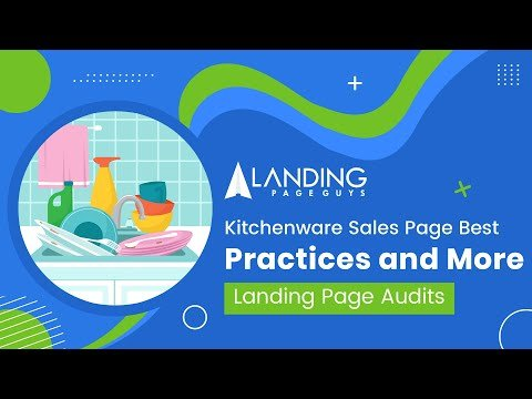 Kitchenware Sales Page Best Practises and More Landing Page Audits