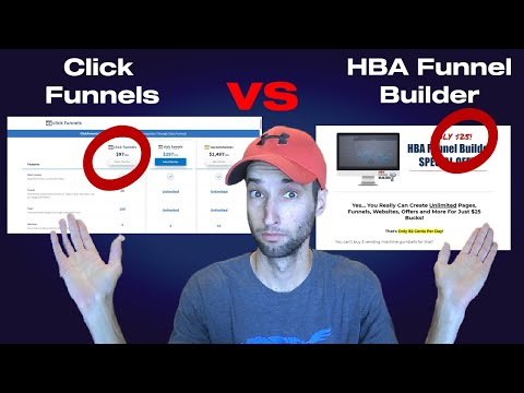 ClickFunnels Vs HBA Funnel Builder. Product and Affiliate Programs Review.