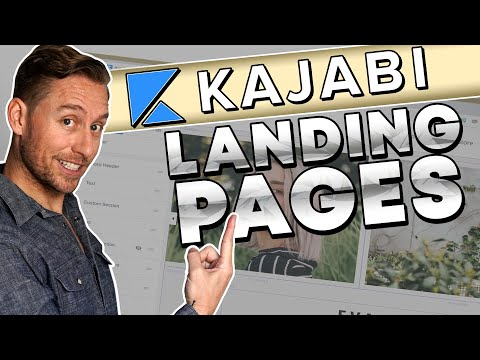 Kajabi Tutorial : Build a HIGH Converting Landing Page