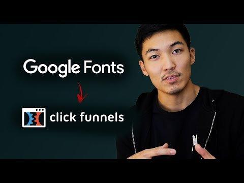 ClickFunnels Tutorial – Google Fonts – [Custom Font Series 2020]