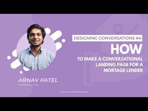 How to Make a Conversational Landing Page for a Mortgage Lender