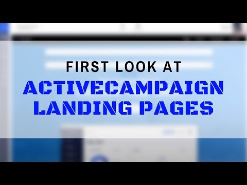 Expert First Look: ActiveCampaign Landing Pages