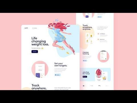 Beautiful Landing Page design in Figma + Free figma template