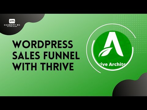 Create WordPress Sales Funnel / Landing Pages with thrive architect Bangla Tutorial