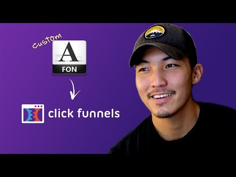 ClickFunnels Tutorial – Importing Local Font (Your own font) – [Custom Font Series 2020]
