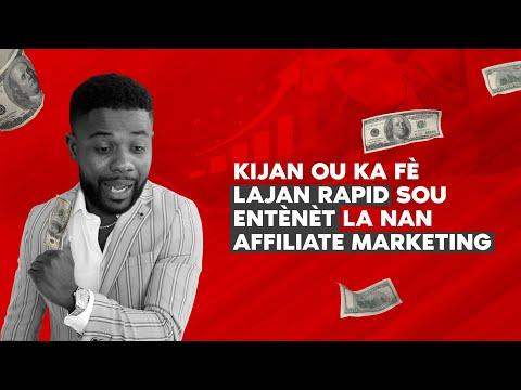 Sekre Niche Ki Ka Few Fe Lajan Rapid Nan Affiliate Marketing + Funnel Gratis