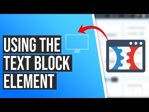 How to Use The Text Block Element in ClickFunnels