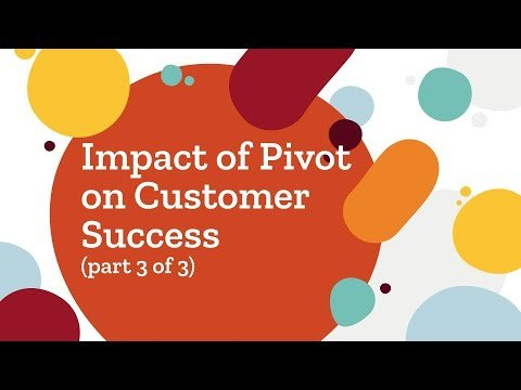 Part 3 of 3: Impact of Pivot on Customer Success (Metrics and Dashboards)