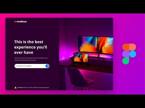 Let's Design a Landing Page UI in Figma Tutorial
