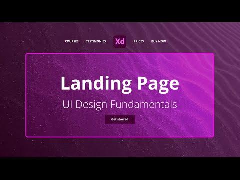 Landing page UI Design fundamentals