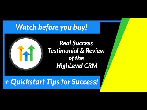 Testimonial & Review of High Level CRM for Lead Nurturing (GoHighLevel) HighLevelSnapshots.com
