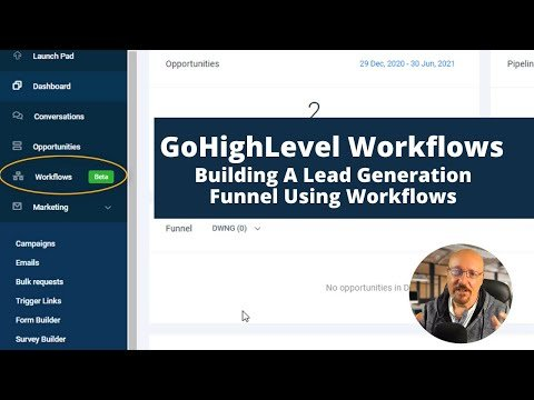 GoHighLevel Workflows – Creating A Lead Generation Funnel In GHL Using Workflows