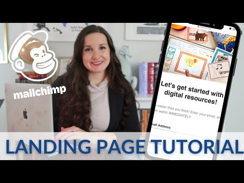 MAILCHIMP Landing Page Tutorial || How to Get People on Your Email List