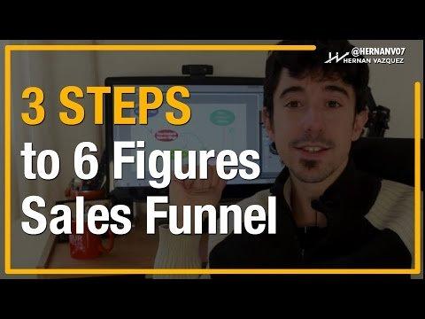 3 Steps to 6 Figure Sales Funnel (Dead Simple) – Hernan Vazquez
