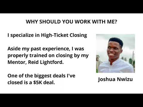 Commission Only Sale Rep – Joshua – Recruiting Snapshot – GoHighlevel – GHL