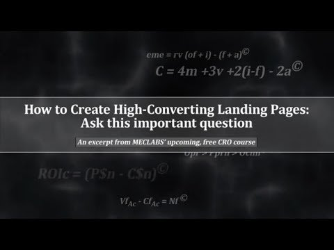 How to Create High-Converting Landing Pages: Ask this important question