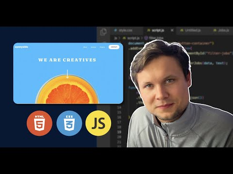 Build a Professional Landing Page worth $10k with HTML, CSS & JavaScript