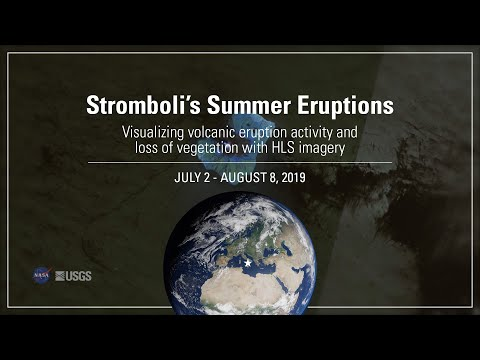 HLS: Visualizing Stromboli's Eruptions