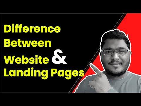 Difference Between Website & Landing Pages in Tamil by Digital Saravanan – YardStick Digital