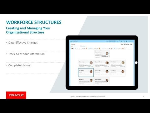HCM Overview: Workforce Structures