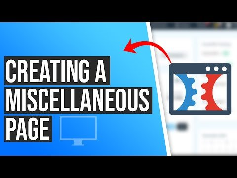 How to Create A Miscellaneous Page in ClickFunnels