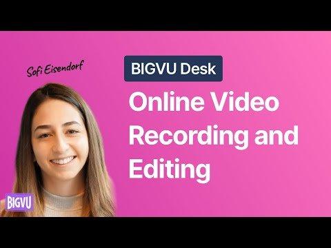 BIGVU Web Desk: Online Teleprompter, Auto-Captions & Video Landing Pages