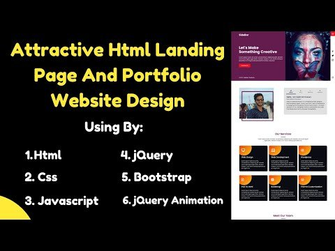 Attractive Html Landing Page And Portfolio Website Design   MH Software BD