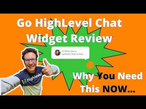 Go HighLevel Chat Widget Review, Why You Need This Now + Set Up Info. Marketing Agencies MUST WATCH