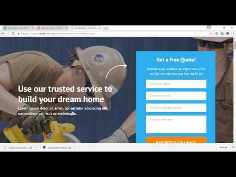 Homepage settings -Construction Landing Page | Free Construction WordPress theme