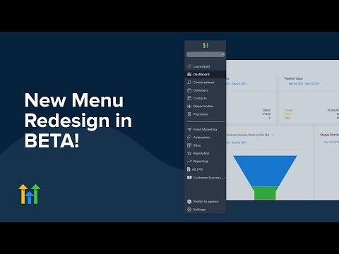 New Menu Redesign in BETA!