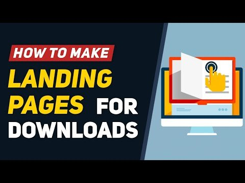 Create Landing Pages to Download eBooks & Resources