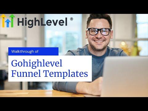 Gohighlevel funnel templates – Full walk through
