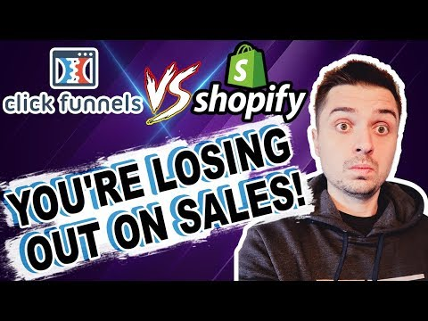 ClickFunnels Vs  Shopify For Ecommerce Dropshipping – Do You Need A Shopify Store Or A Sales Funnel?