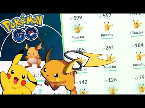 Pokemon GO | HIGH CP PIKACHU EVOLUTION TO RAICHU! Pikachu Catching MADNESS