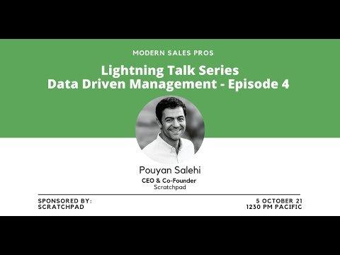 Modern Sales Pros – Lightning Talk Series – Data-Driven Management Episode Four