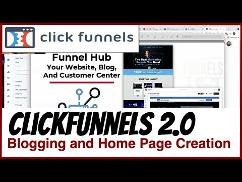 ClickFunnels 2.0 – Funnel Hubs, Websites, Blogs and Pages all Built With The New ClickFunnels Editor