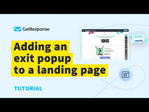 How to Create and Add Exit Popups to Your Landing Pages Using GetResponse   GetResponse Tutorial
