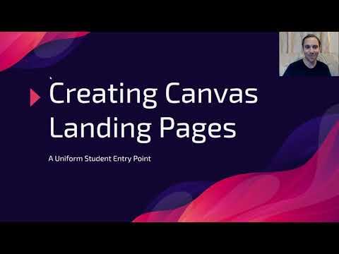 Canvas Landing Page Training