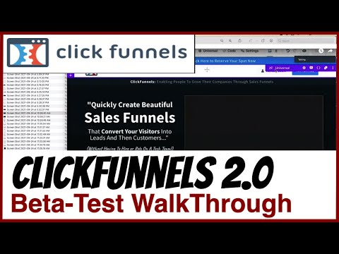 ClickFunnels 2.0 WalkThrough…  The New ClickFunnels Editor Announced At Funnel Hacking Live 2021