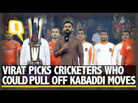 Star Sports: Virat Kohli at Pro Kabaddi Match, Picks Cricketers Who Could Play Kabaddi  | The Quint
