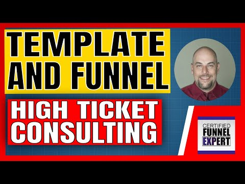 Consulting Sales Funnel –  High Ticket Consulting Funnel Template