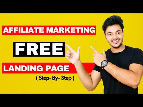 """How To Create FREE Landing Page For Affiliate Marketing In 2021 : Cost Rs """" 0 """""""