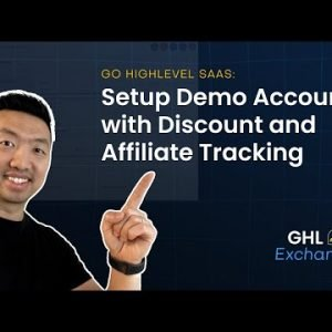 How to Setup Go HighLevel SaaS Demo Account with Discount and Affiliate Tracking