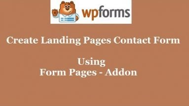 Form Pages Addon WPForms   Create Landing Pages Contact Form